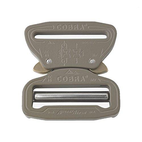 AustriAlpin Cobra Buckle 7075 Aluminum Quick Release Adjustable Elephant Grey (2'' 50MM) by COBRA BUCKLE
