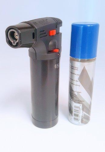 (Eagle Iseries Jet Flame Butane Torch Lighter Refillable Windproof & butane (Shiny)