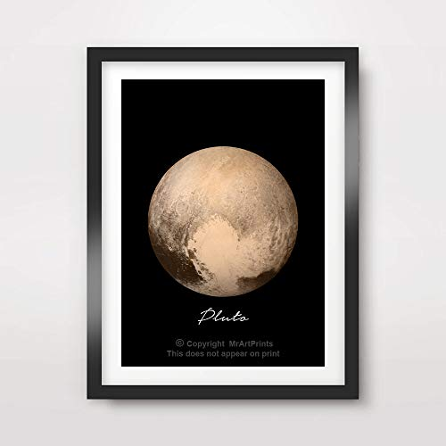 PLANET PLUTO ART PRINT Poster Home Decor Outer Space Photo Solar System Wall Picture A4 A3 A2 (10 Size Options) by MrArtPrints