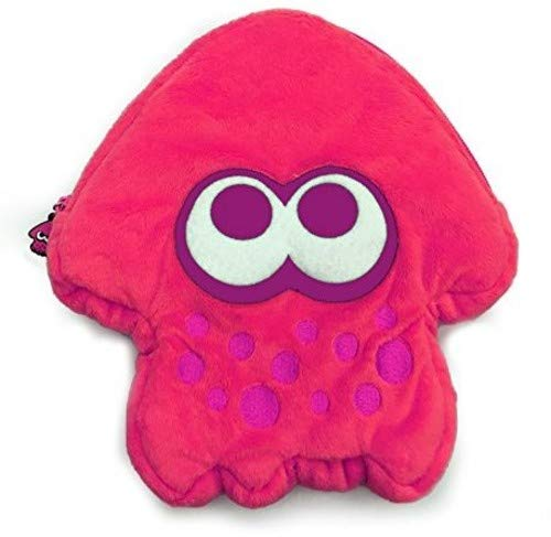 HORI Splatoon 2 Squid Plush Pouch (Neon Pink) Officially Licensed - Nintendo Switch