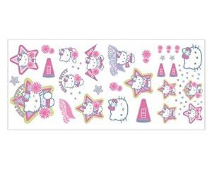 Amazon Com Hello Kitty Cheerleader Wallpaper Appliques