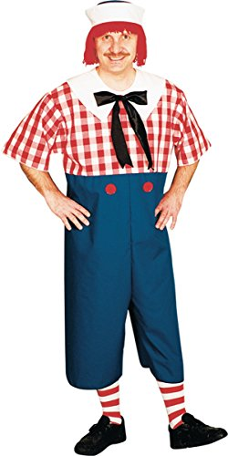 - Raggedy Andy Costume - Standard - Chest Size 33-45
