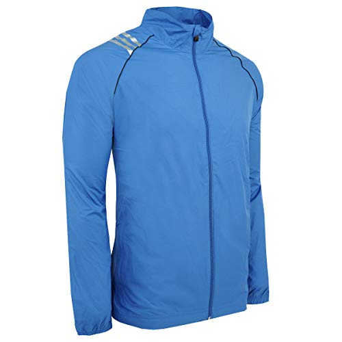 adidas Men's Climaproof 3-Stripe Jacket, Gulf/Black, Medium Adidas Black Storm Jacket