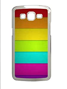 Colorful Stripes Polycarbonate Hard Case Cover for Samsung Grand 2/Samsung Grand 7106 Transparent