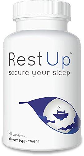 RestUp: Premium Non-Habit Forming Sleep Aid - Get the Best Night's Sleep - 100% Moneyback Guarantee - Made with L-Theanine, NIAGEN, 5-HTP, Bioperine, and Melatonin - Sleep Supplement (30 capsule)