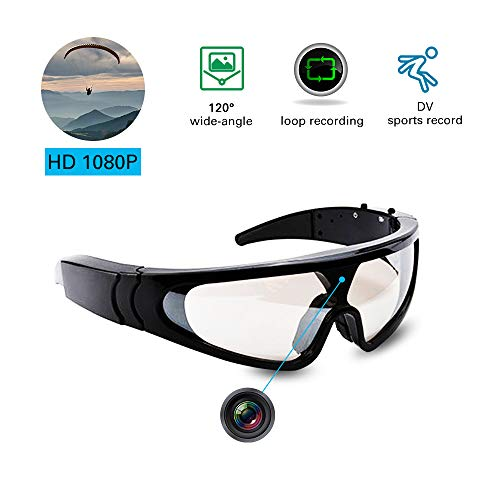 Hidden Camera Glasses With Video, Ski Goggles & Snowboard Goggles Camera Digital Video Recorders, Spy Recorder DVR Outdoor Sports Action Camera For Wearable Cameras, Windproof Glasses ()