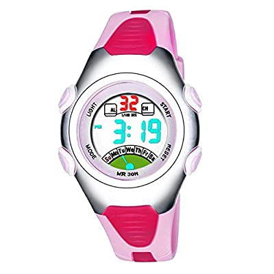Girls Digital Watch, Kids Waterproof Sports Watch with Alarm Timer, Outdoor Sport Watches for Childrens by BZKIER
