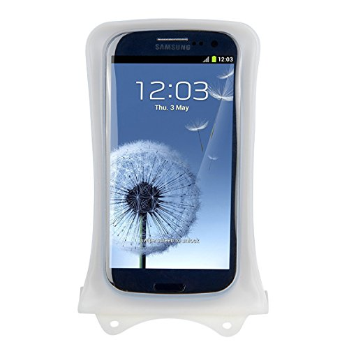 DiCAPac WP-C1 Universal Waterproof Case for Samsung Galaxy Grand Max / Prime / Prime Duos TV in White (Double Velcro Locking System; IPX8 Certified Underwater Protection; Super Clear Photo Lens)