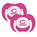 NFL Football 2014 Baby Infant Girls Pink Pacifier 2-Pack - Pick Team (Chicago Bears - Pink)