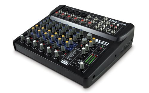 Series Powered Mixer (Alto Professional ZMX122FX | 8-Channel 2-Bus Compact Mixer with 16 Inputs and 256 On-Board Effects)