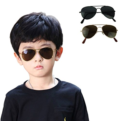 Voberry New Cool Fashion Mercury Ultraviolet-proof Goggles Metal Frame Sunglasses For Children Kids, Boy ,Girl, Baby - Stylish Goggles New
