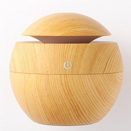 Fengye Ultrasonic Essential Oil Diffuser - Humidifier with LED Lights, Compact Size, Silent Operation and Easy-Travel USB Power for Home Car Table Office (Light - Ml 130 Part