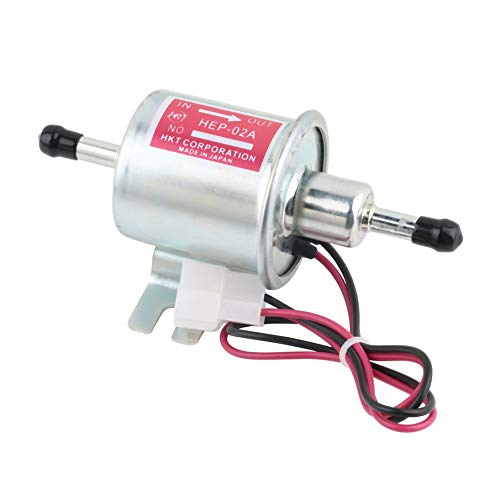 - Electric Fuel Pump Gas Diesel Inline Universal 12V Low Pressure HEP-02A for Motorcycle Carburetor Lawn Mower
