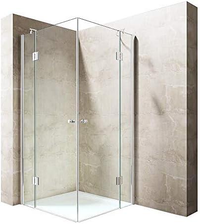 Durovin - Cubículo de ducha de cristal transparente con bisagras, 8 mm de grosor, Ravenna 1: Amazon.es: Bricolaje y herramientas