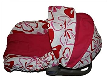 Hawaiian Red White Infant Car Seat Cover Fits Evenflo And Graco Brand Seats