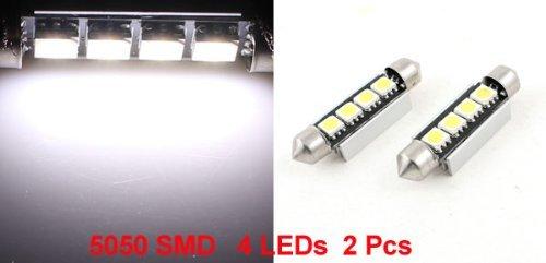 Amazon.com: eDealMax 2 PCS Vehículos 1157 bayoneta Base 44mm 5050 SMD 4 LED Blanco Corner de luz de lámpara: Automotive