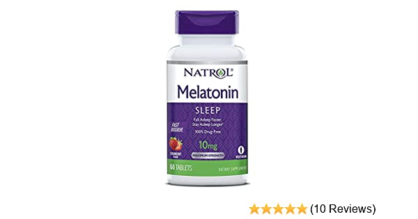 Amazon.com : Natrol Sleep Fast Dissolve Melatonin Tablets 10 mg, Strawberry Flavor 60 ea : Grocery & Gourmet Food
