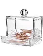 Cotton Storage Boxes Holder Acrylic Q-Tips Organizer Cosmetic Makeup Storage Case Make Up Pads Swabs Container Case Dependable Performance Deft Processed