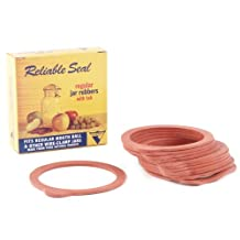 12 Red Regular Jar Rubber Canning Rings by Viceroy