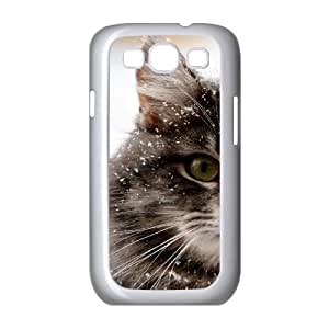 Vety Cat Samsung Galaxy S3 Cases Snow Cat, Cat [White]