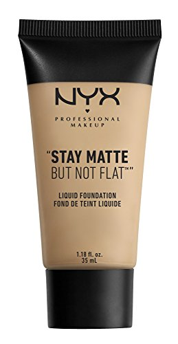 NYX PROFESSIONAL MAKEUP Stay Matte but not Flat Liquid Foundation, Nude, 1.18 Fluid Ounce