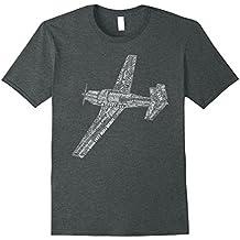 M20 Typography Airplane Aviation Pilot T-Shirt