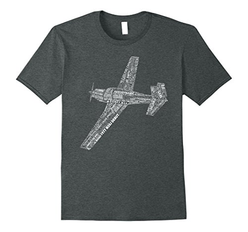 Mens M20 Typography Airplane Aviation Pilot T-Shirt Medium Dark Heather - Mooney Airplane