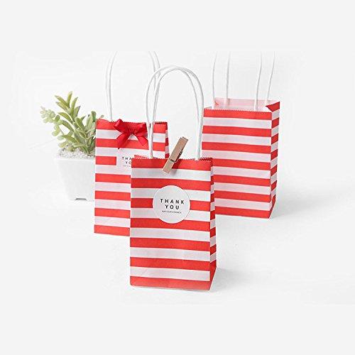 DeemoShop 20 Set Small Gift Bag Handles Bow Ribbon