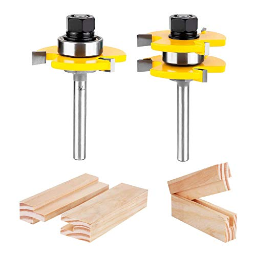 KOWOOD Tongue and Groove Set of 2 Pieces 1/4 Inch