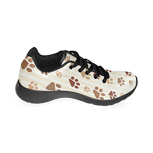 InterestPrint Womens Road Running Shoes Jogging Lightweight Sports Walking Athletic Sneakers Dog Paw pfOw4