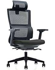 CUBOC High Back Mesh Ergonomic Office Chair with 2-to-1 Synchro-Tilt Control & Headrest