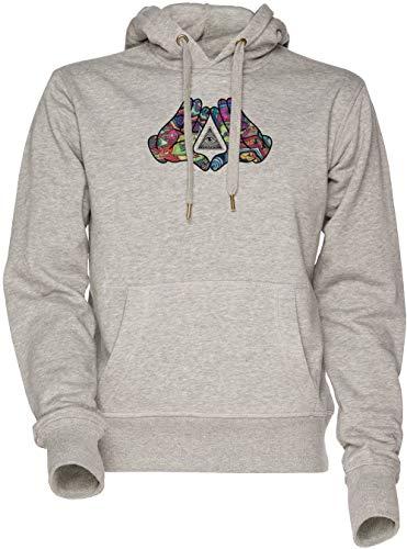 Trippy Men's Women's Sweatshirt Illuminati Sudadera Hombre Manos Diamante Grey Con Capucha Hoodie Mujer Unisexo Gris vvrxPwH