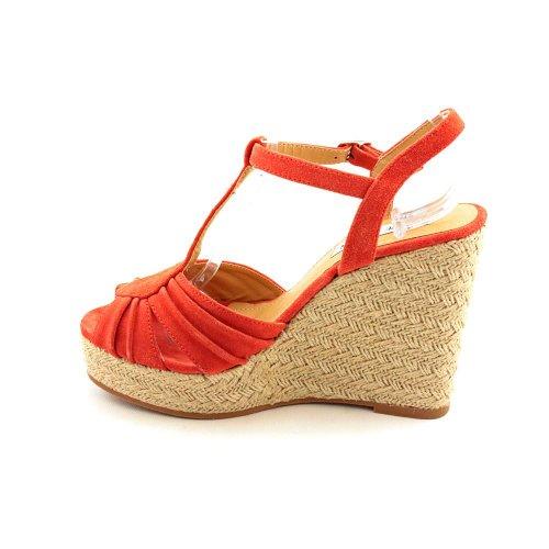 Steve Madden Mammbow - Zapatos de vestir de cuero para mujer rojo Coral
