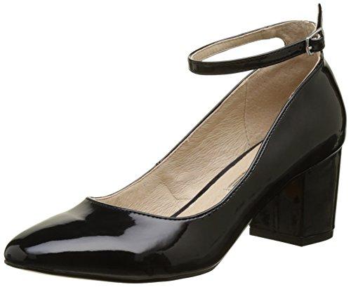 Black 1 Scarpe Nero Pu Shoes Buffalo Patent 01 15p54 con Tacco Donna 1qvSwnTxX