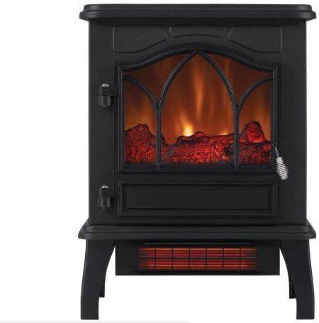 Amazon Com Chimneyfree Electric Infrared Quartz Stove Heater 5 200 Btu Black Metal Black Metal Home Kitchen