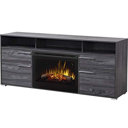 Cheap DIMPLEX Electric Fireplace TV Stand Media Console Space Heater and Entertainment Center with Natural Log Set in Carbon Finish - Sander #GDS25L5-1686CW Black Friday & Cyber Monday 2019