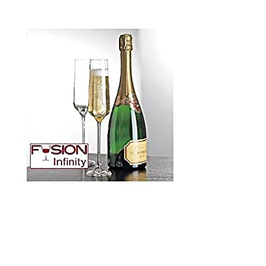 Wine Enthusiast Fusion Infinity Champagne Flutes, Set of 4