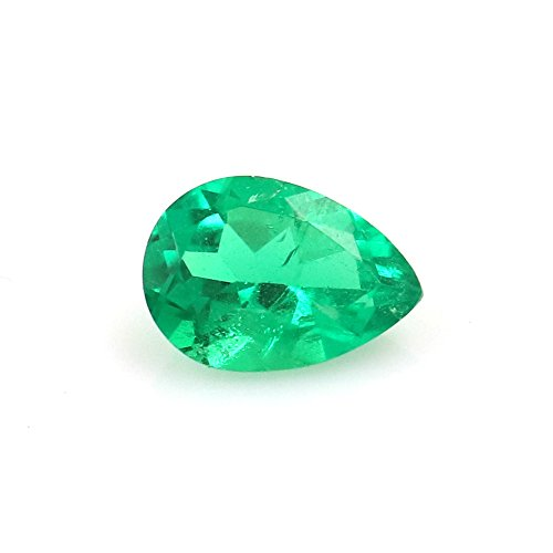 DVG 100% Natural Colombia Emerald 0.51 Carats TCW Pear Beautiful Gem