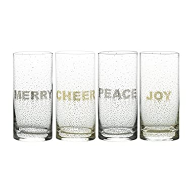 Mikasa Cheers Confetti Highball Glass, 16.25-Ounce, Set of 4