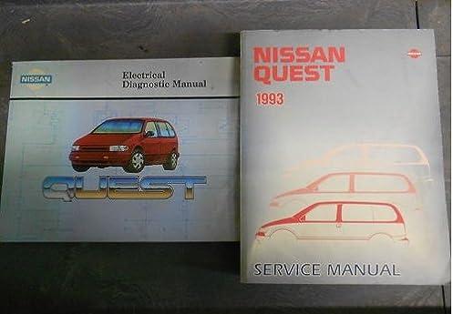1993 nissan quest service shop repair manual set oem factory book 93 rh amazon com Yellow 93 Nissan Quest 98 Nissan Quest Parts