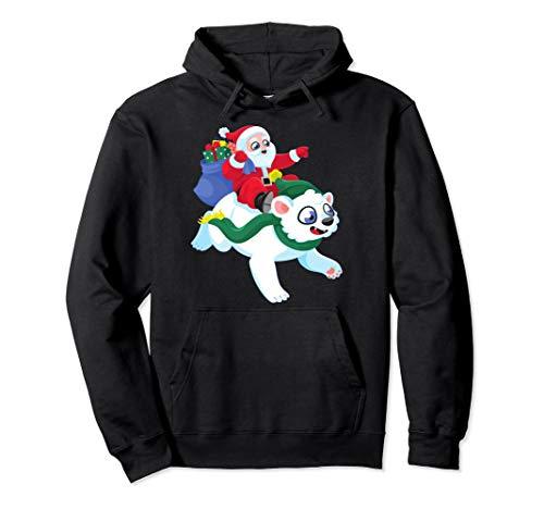 Bear Polar Riding (Santa Claus riding on a white Polar Bear Ugly Christmas)