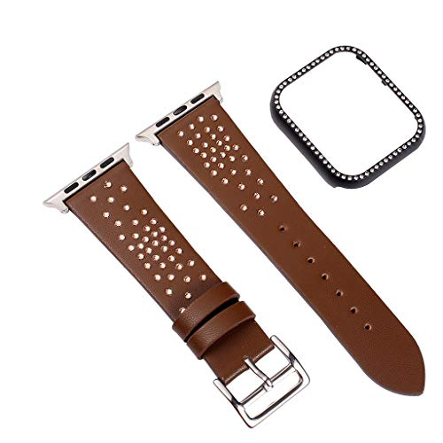 NOMENI Compatible with Apple Watch 4 Strap 38/40/42/44mm, Bezel with Replacement Frame
