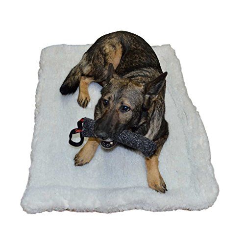- RedLine K9 Double Sided Sherpa Dog Bed Crate Mat (12