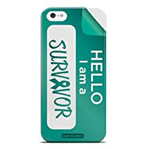 Inspired Cases 3D Textured Hello, I am a Survivor - Teal Case for iPhone 5 & 5s