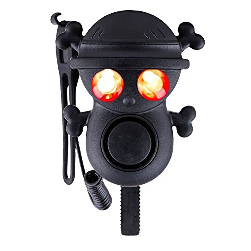 T-TOPER Ultra Loud 4 Modes Skull Electric Bike Horns with 2 Warning...