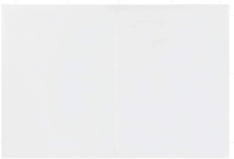 Tidyard Partyzelt-Seitenw/ände 2 St/ück mit Rei/ßverschluss PE Wei/ß//Anthrazit//Gr/ün