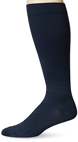 Dr. Scholl's Men's Microfiber Firm Support Socks, Navy, Shoe: 10.5-12 - 20 Support Cloth