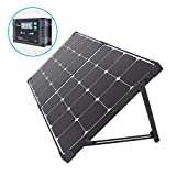 Renogy 100 Watt Eclipse Monocrystalline Charge 20A Voyager Waterproof Controller, 100W-Waterproof, Solar Suitcase