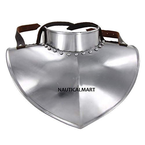 Medieval Collar Gorget Made Of 18 Gauge Steel By Nauticalmart by NAUTICALMART