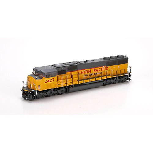 HO SD60M w/DCC & Sound, UP/Yellow Sill Stripe#2427 -  Athearn